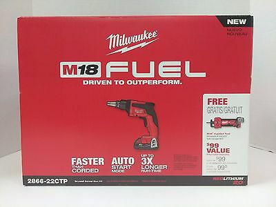 Milwaukee 2866-22CTP FUEL M18 Drywall 2866-20 Gun FREE CUT OUT TOOL !!