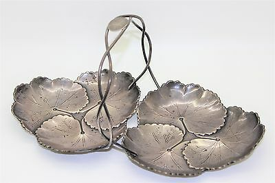 Reed and Barton Sterling Silver Two-Part Lily Pad Tray/Dish Design Number X103