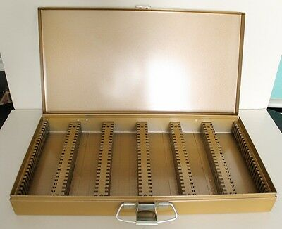 Kenco Slotted Metal File Storage Box, 2x2, Holds 150 35mm Slides or Coins