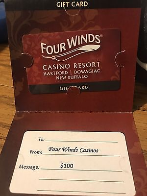 Four Winds Casino Resort Gift Card $100 Value
