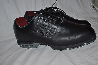 Nike Men's Tiger Woods Black Golf Shoes Size 11 WIDE Terrific Condition!