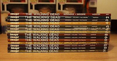 The Walking Dead Graphic Novel Bundle Volumes 1-14 ft two comic book specials