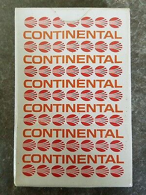 Continental Airlines Playing Cards - NEW - SEALED - Vintage Orange Logo Retro