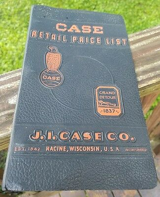 Vintage Case Tractor J.I. Case Price Guide Advertising Binder