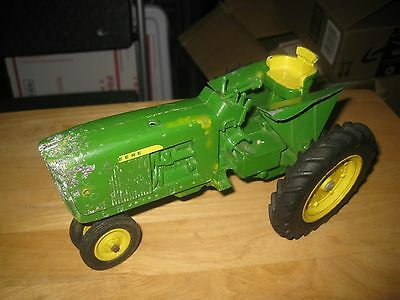 Vintage John Deere Metal Tractor Diesel Tractor Green and Yellow