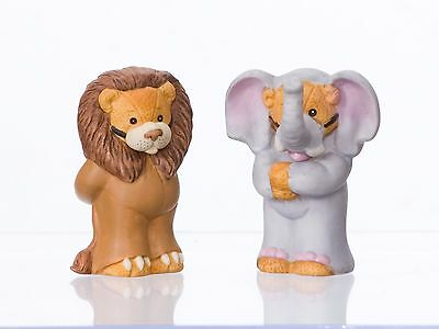 ENESCO Lucy & Me 1990 Lion & Elephant Bears Set of 2
