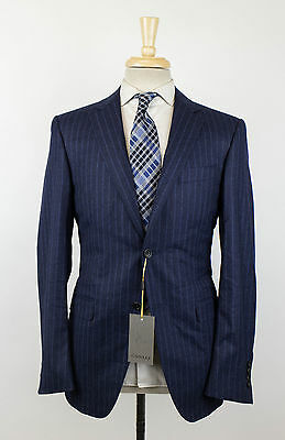 NWT CANALI 1934 Blue Striped Wool 2 Button Suit Size 50/40 R Drop 8 $1995