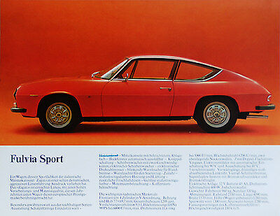 Lancia full range brochure Prospekt, 1972 (German text)