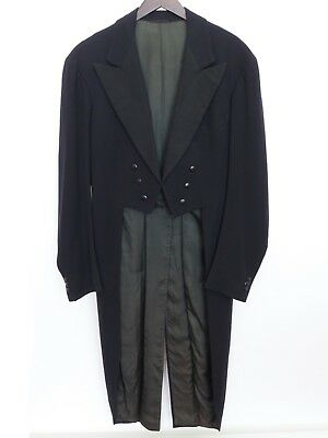 New England Wholesale Tailors 1943 VTG tailcoat & trousers, white tie, ~38XL