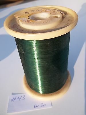 Magnet wire AWG 43, roll of .780kg , UW, green as per picture, NOS (W30)