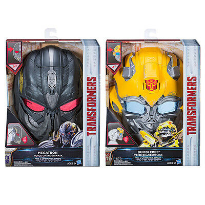 Hasbro Transformers MV5 Last Knight Voice Changer Mask Megatron Bumblebee AU