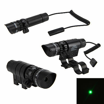 500m Tactical Green Red Dot Laser Sight Rifle Gun Hunt Remote Switch Scope Rail