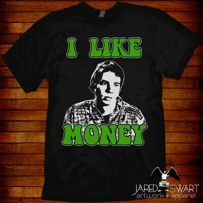 """Idiocracy T-shirt """"I Like Money"""" inspired by Mike Judge's classic 2006 movie"""