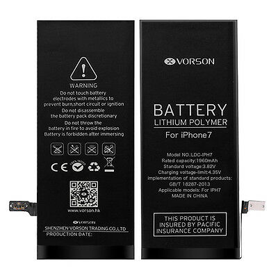 "For iPhone 7 4.7"" 1960mAh Li-ion Battery Replacement with Flex Cable+ Tools 3.8V"