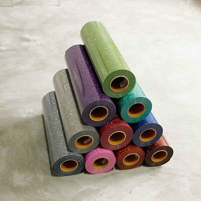 PU T-Shirt Heat Transfer Vinyl Roll Textile Glitter For Garment Various Colors