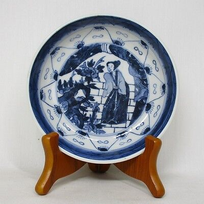 A375: Japanese old IMARI blue-and-white porcelain NAMASU plate of good painting
