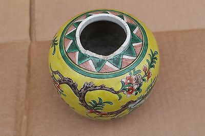 Antique Chinese porcelain jinger jar, hand painted