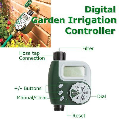 Track Electronic Water Tap Timer DIY Garden Irrigation Control Unit Digital LCD