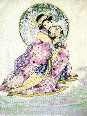 Exquisite GEISHA ~Completed Petit Point/ Cross-stitch Picture~Frame?Fire-Screen?