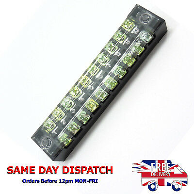 600V 15A 10 Positions Dual Row Electric Barrier Screw Fixed Terminal Block K17
