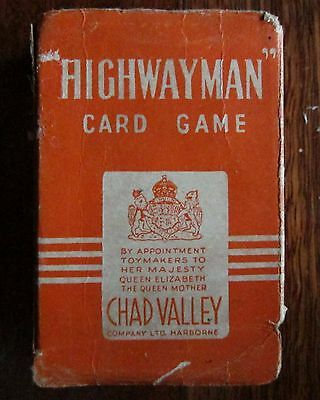 Vintage Highwayman Card Game by Chad Valley Complete