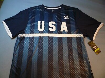 4dd4c1074 Umbro USA Men s Soccer EXTRA LARGE BRAND NEW shirt USMNT comfort control  NWT XL