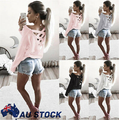 Women Long Sleeve Sweatshirt Pullover Ladies Casual Tops T-Shirt Blouse Tee New