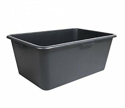 Square Building Tub Mortar Bucket Black 80 Litre Robust Quality With 4 Handles