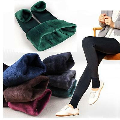 Women Leggings Ladies Winter Leggings Pants Stretchy Thick Fleece Lined Thermal