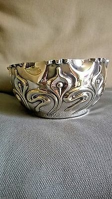 BEAUTIFUL ART NOUVEAU BOWL ANTIQUE SILVER PLATE FENTON BROS Ltd circa 1900