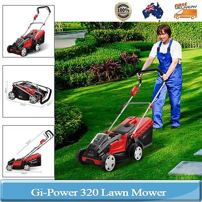Gi-Power 320mm Lawn Mower 40V Lithum Battery Foldable Three-stage Height Level