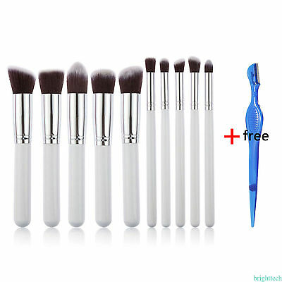 10pcs/Set Pro Makeup Cosmetic Brushes Powder Foundation Eyeshadow Lip Brush Tool