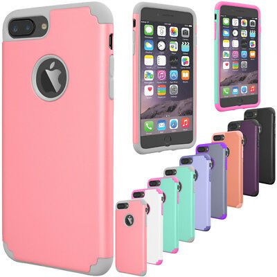 For iPhone 7 Plus Shockproof Rugged Hybrid TPU Rubber Hard Slim Skin Case Cover