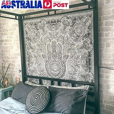 Hand Indian Ethnic Mandala Bedspread Throw Mat Wall Hanging Tapestry Rug Decor