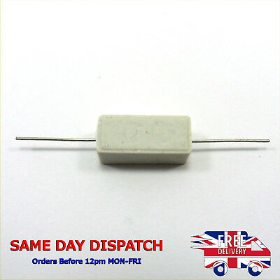 5 x Wire wound Cement Resistor Ceramic 3W horizontal 0.1ohm to 22K ohm UK Seller