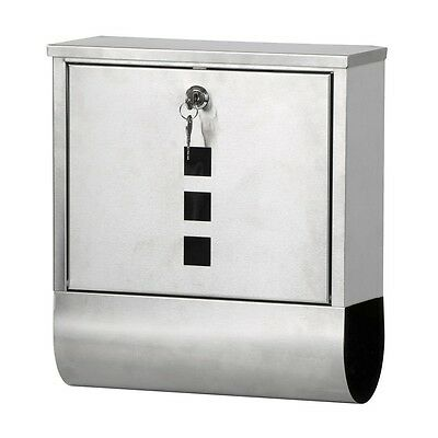 SY Waterproof Stainless Steel Lockable Mailbox Newspaper Holder Outdoor Mail Pos