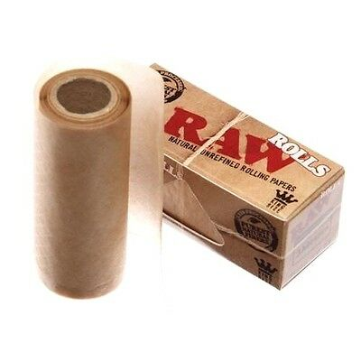 RAW Rolls King Size Smoking Rolling Paper Roll Rips  Natural Classic 3 METER NEW