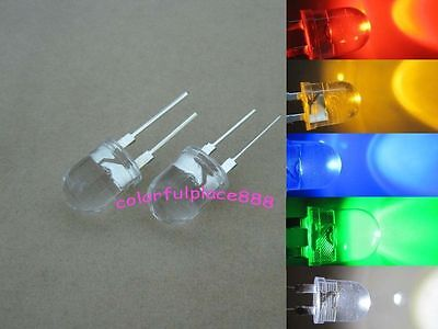10mm 0.5W Red Yellow Blue Green Warm White LED Diodes High Power Large Chip Leds