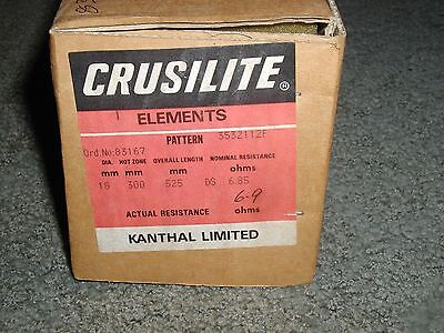 1 New Kanthal Crusilite Element Furnace, Kiln Perth Scotland OHM Size Assortment