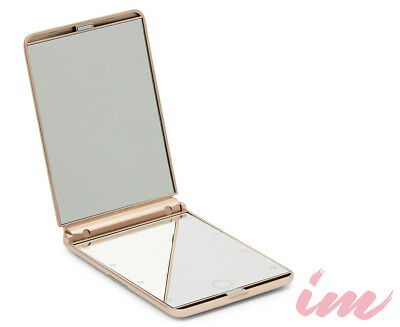 Illuminate Me Makeup Compact Mirror w/ LED Lights - Rose Gold