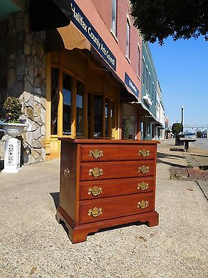 Fantastic Chippendale Cherry Bedside Chest By Henkel ~ Harris 20thc
