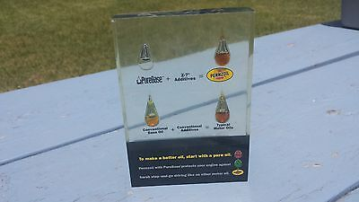Rare Vintage Pennzoil Pure Base Oil Gas Station Display Advertising Paperweight