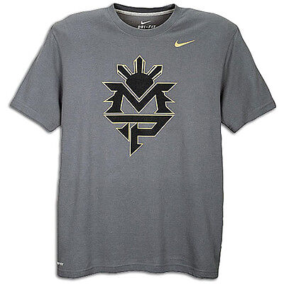 "Manny Pacquiao Authentic Nike Shirt size small ""MP Gray"" BNWT"