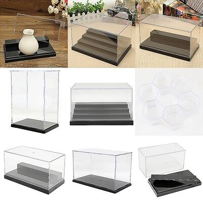 AU 6 Type Acrylic Display Plastic Box Case Clear Dustproof Protection Assembly