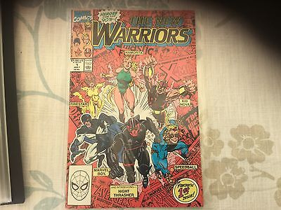 MARVELS COMICS- THE NEW WARRIORS Comic - Vol 1 - No 1 - Date 07/1990 - VGC.