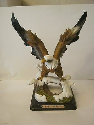 """Eagle Figurine, De Elina Collection by Turtle King, Resin, 10"""" Tall  (013-5)"""
