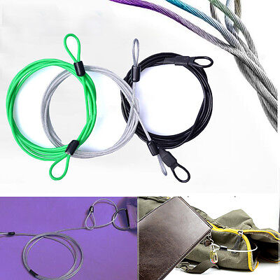 2017 200CM x 2.5MM Cycling Sport Security Loop Cable Lock Coiling Bike