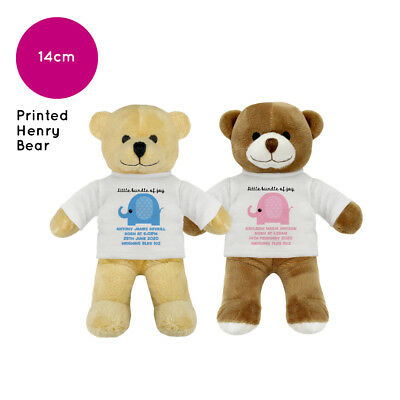 Personalised Name Edward Teddy Bear Christening New Baby Boy Girl Gift Gifts