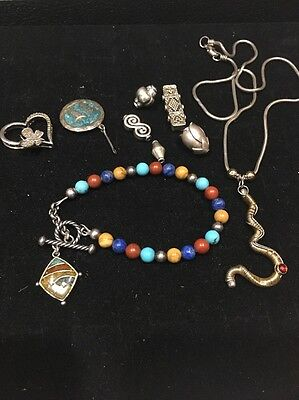 Sterling Silver And 12k Gold Lot Not Scrap