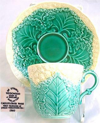 Old Wedgwood Cauliflower Embossed Cup and Saucer C